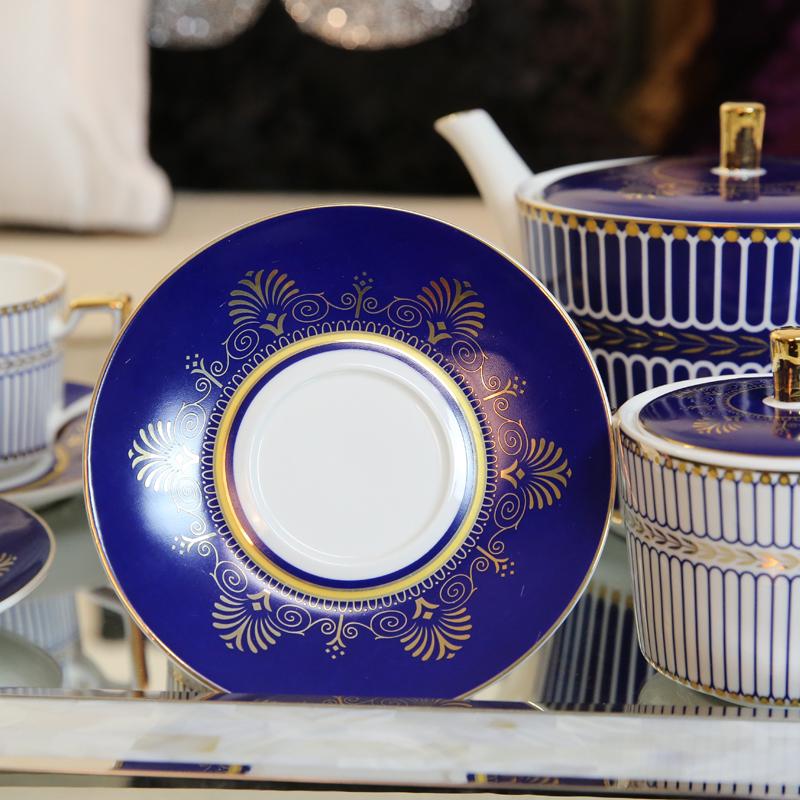 新古典轻奢样板间客厅茶几摆件陶瓷咖啡具套装欧式家用下午茶茶具