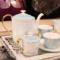 欧式家居样板房茶几摆件咖啡具套装家用英式下午茶茶具托盘装饰品