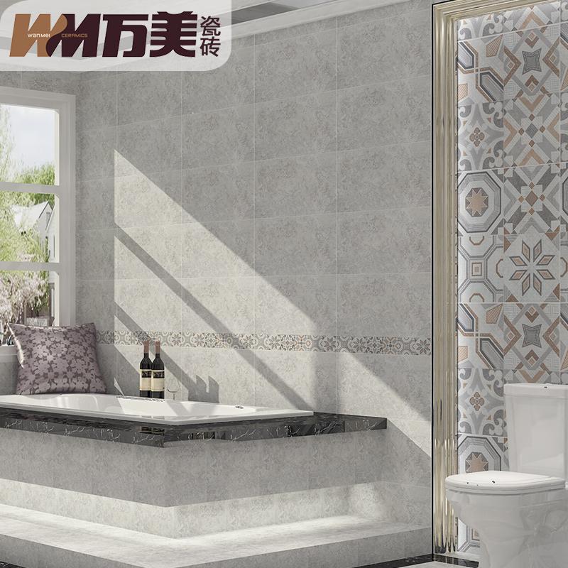 万美瓷砖卫生间瓷砖阳台防滑地砖釉面砖厨房墙砖阿波罗300X600