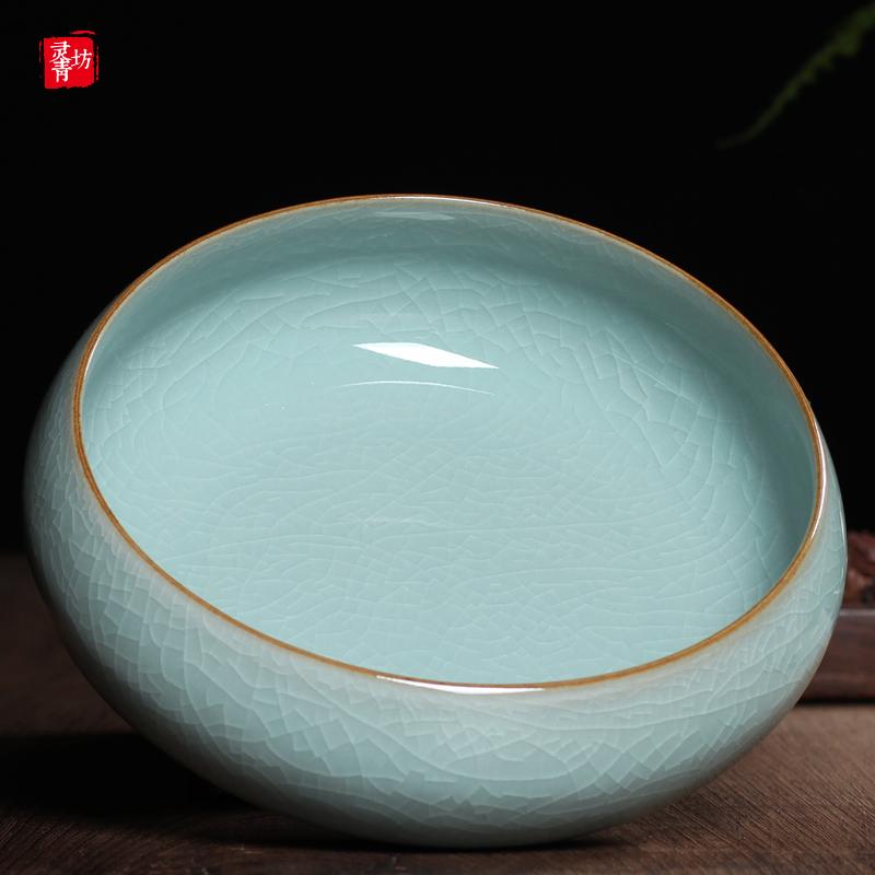 龍泉青瓷茶具茶洗陶瓷杯洗筆洗冰裂紋開片水洗大號茶道菸灰缸花盆
