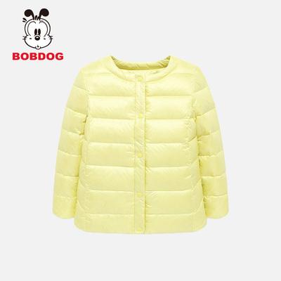 巴布豆童装纯色保暖羽绒服外套