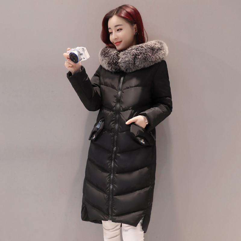 冬季外套中长款棉服女过膝反季棉衣冬天加厚棉袄2018新款宽松