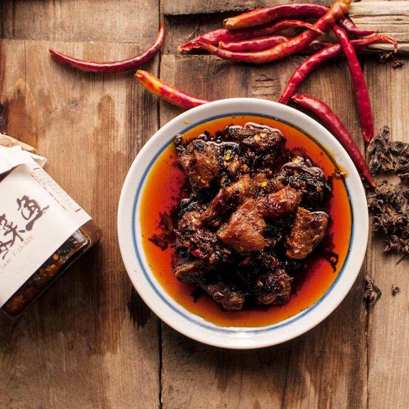 【梅菜鱼】江西特产香辣鱼块 梅菜咸鱼酱开胃下饭菜瓶装即食210g