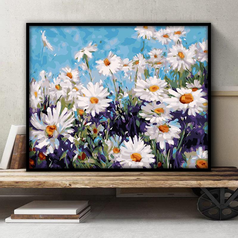 佳彩天颜diy数字油画客厅风景花卉动漫人物填色手绘涂色画diy油画