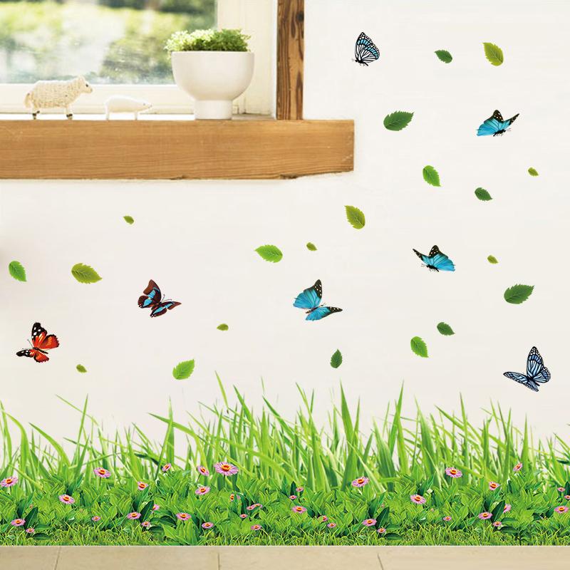 踢脚线墙贴防水腰线贴墙角走廊客厅背景墙壁贴纸卧室玻璃瓷砖贴画
