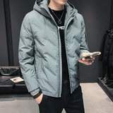 2019 new Korean men's fashion casual slim short down jacket white duck down winter coat handsome men