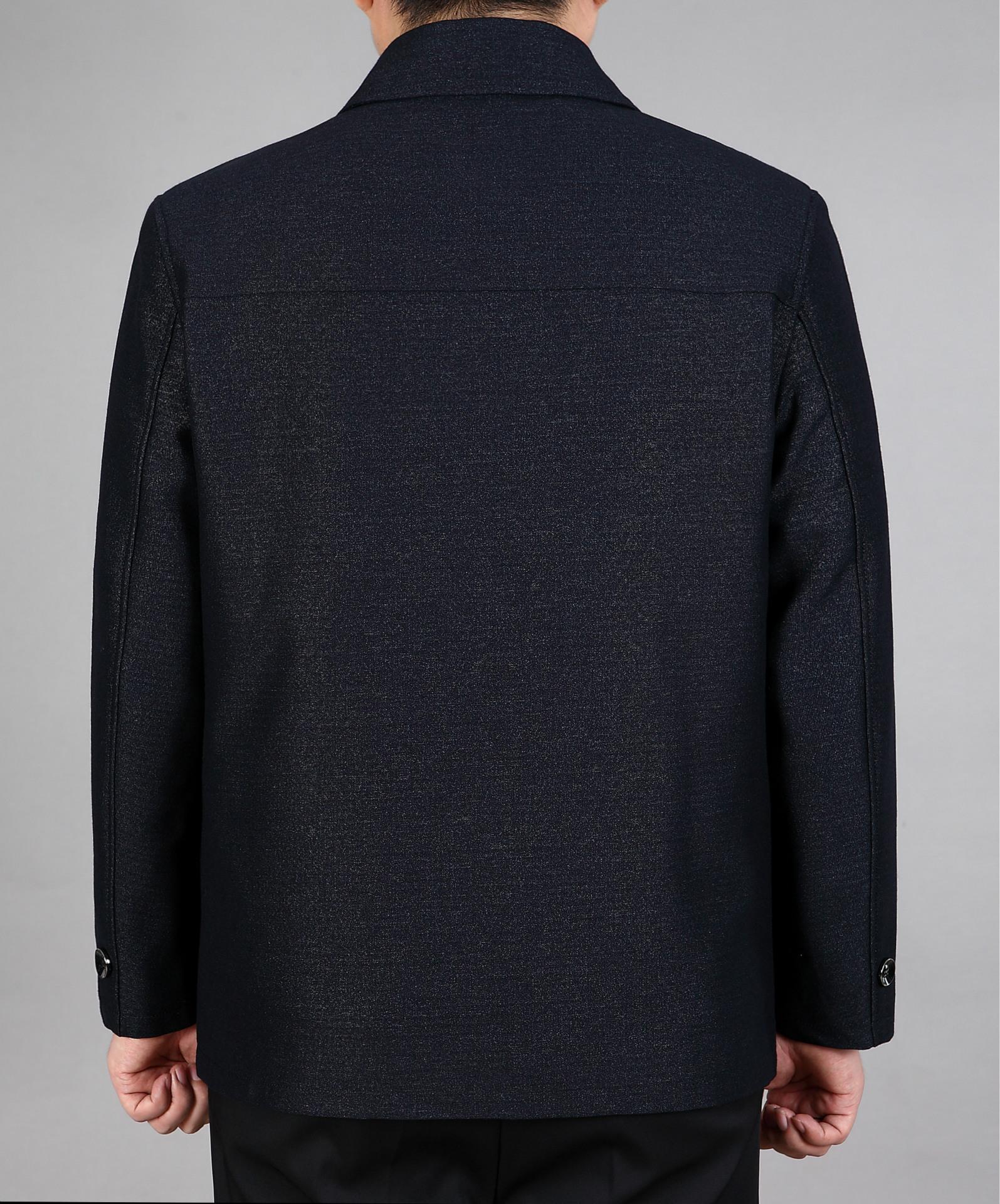 秋季中老年人胖老头男爸爸休闲夹克外套加肥加大码衣服上衣超大号