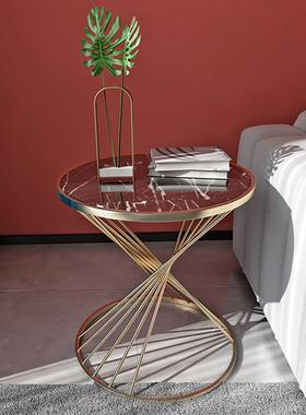 北欧圆形大理石沙发边几角几柜客厅创意网红轻奢简约现代小茶几