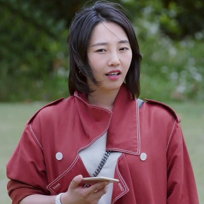 都挺好姚晨苏明玉明星同款红色风衣中长款白百何韩版宽松休闲外套