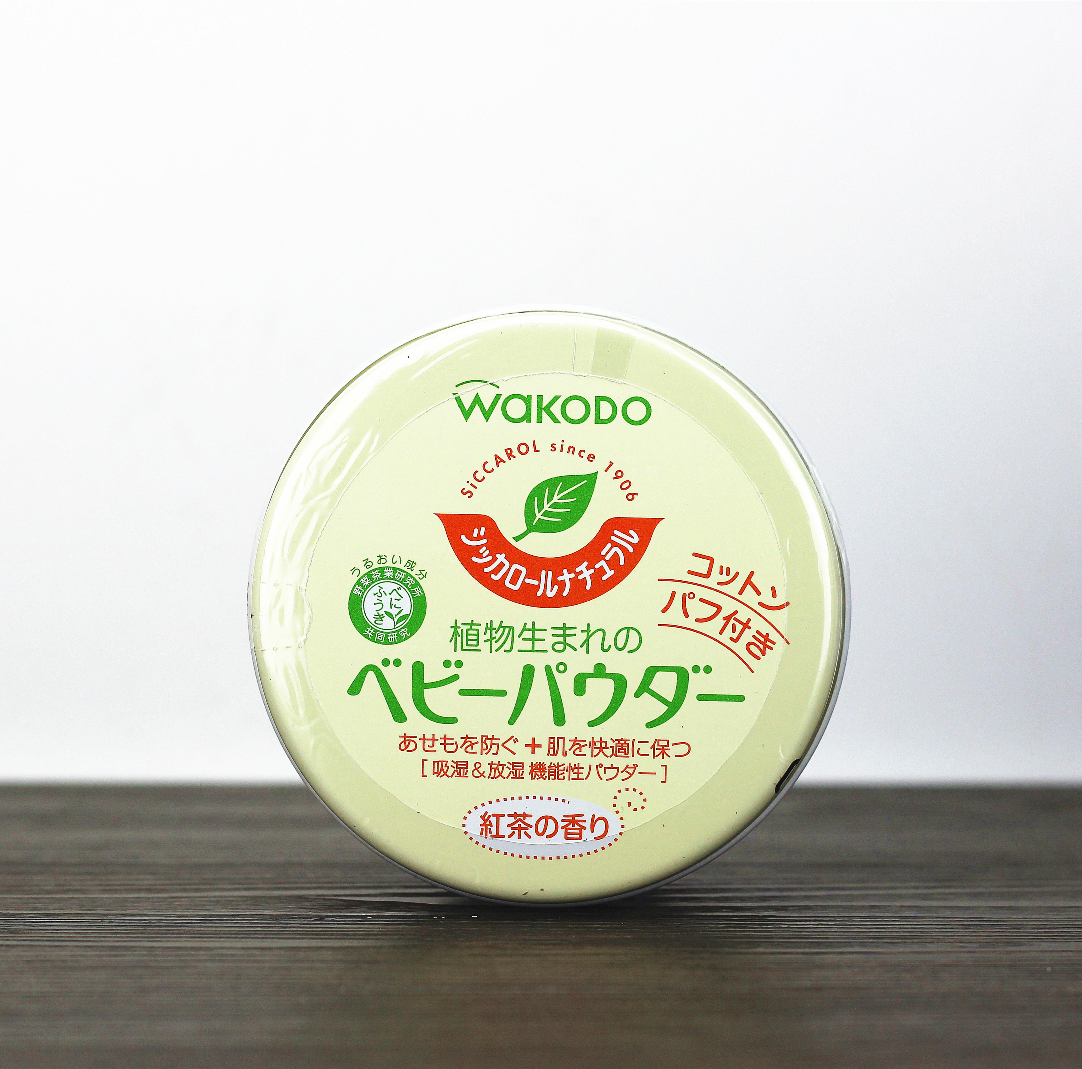 日本WAKODO和光堂爽身粉 植物 茶香 嬰兒痱子粉 無刺激