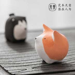 小巧又可爱的特别走心的礼物,送女生创意陶瓷萌宠狗狗礼盒