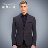 Deloitte Men's Small Suit Korean Slim Fashion Printing Thickening British Small Suit Casual Jacket