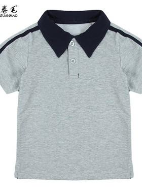 班服童装上衣夏季园服儿童运动服短袖男童女童小学生polo领校服