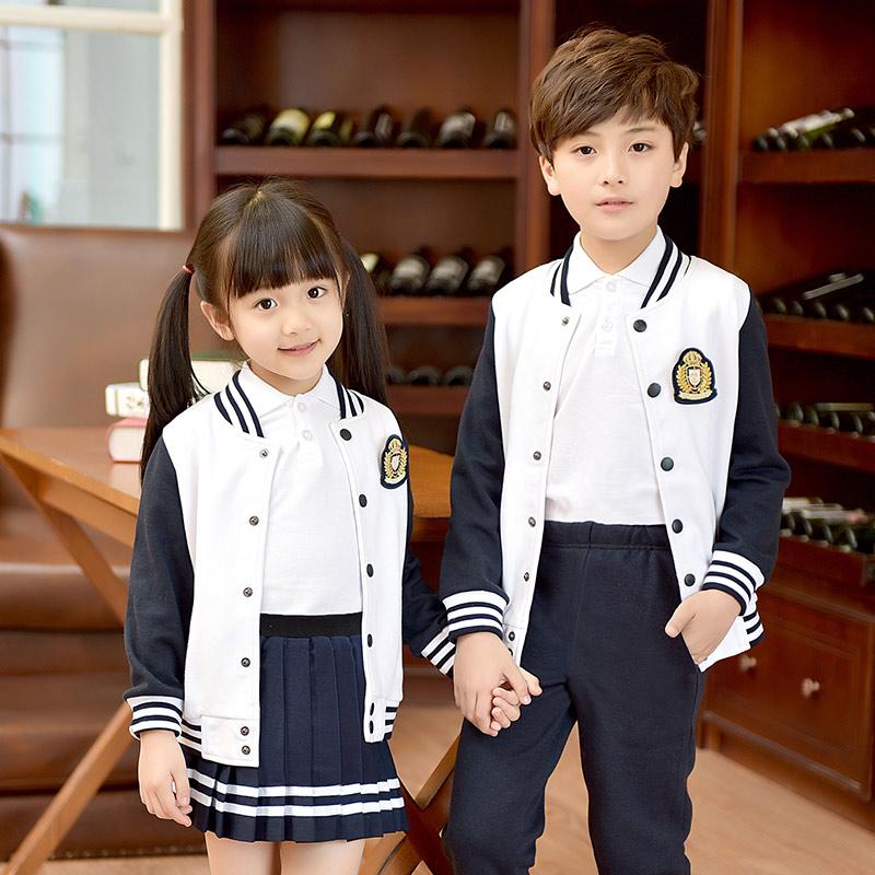 幼儿园园服春秋冬季男女童装小学生校服套装老师运动服棒球服班服