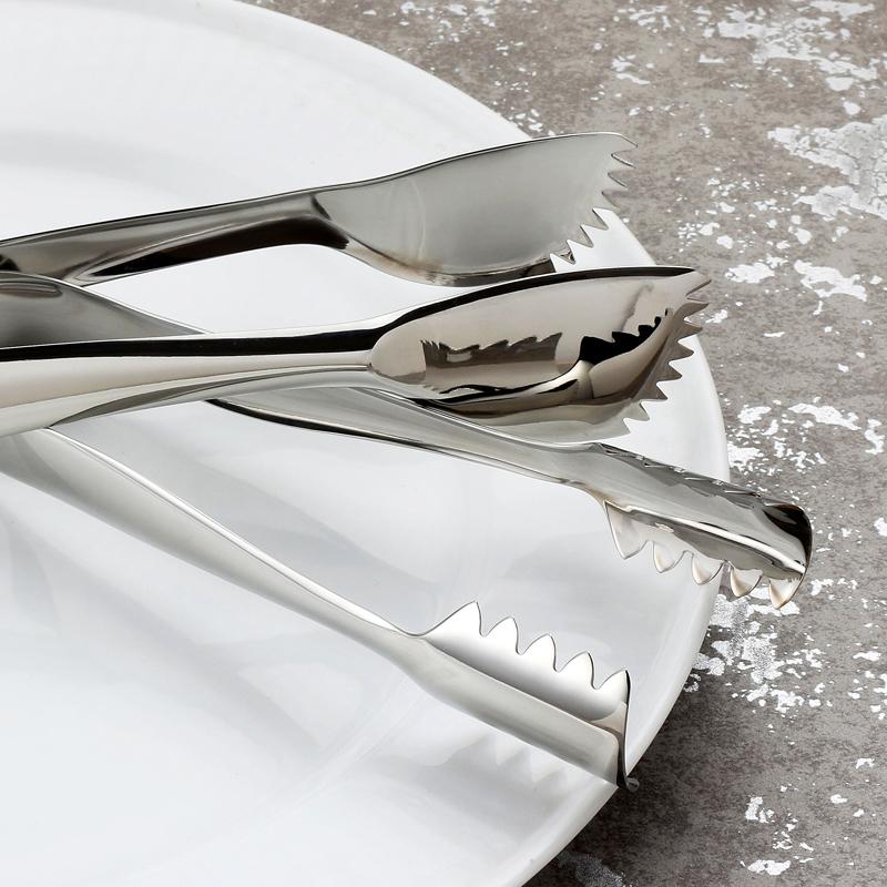 高档304不锈钢冰夹加厚食品夹毛巾夹烤肉夹自助餐夹子冷饮冰块夹