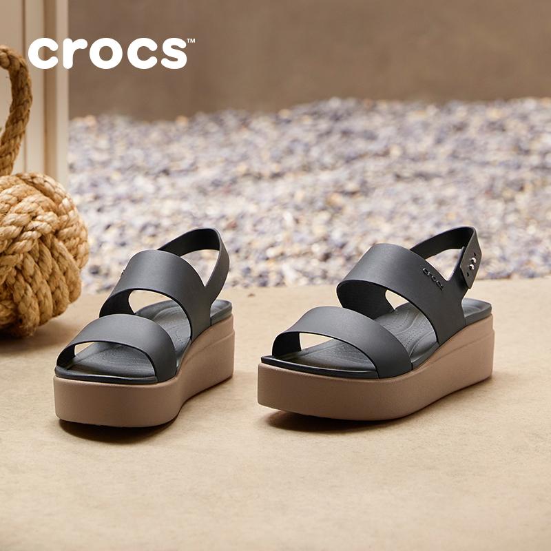 杨幂同款Crocs2020夏季新款女士卡骆驰厚底高跟鞋舒适凉鞋|206453