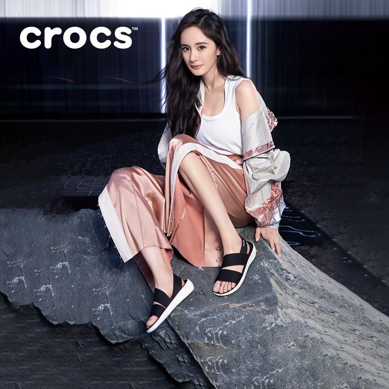 杨幂同款 Crocs女休闲鞋 卡骆驰2020新款literide女士凉鞋|206081