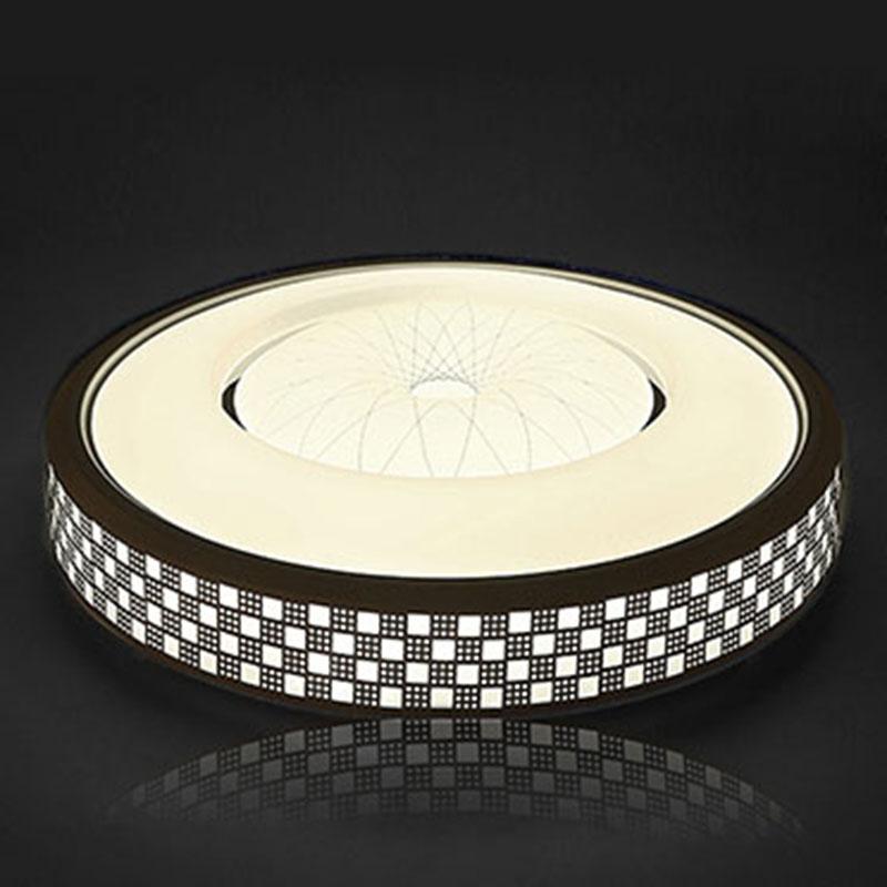 吸顶灯简约现代圆形卧室灯客厅灯大气家用餐厅阳台灯遥控灯具 led