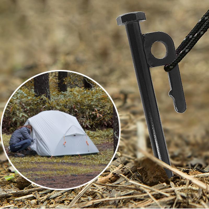 钢制户外帐篷钉野营加长加粗钢铁钉天幕配件沙滩雪地钉 S45C 新升级