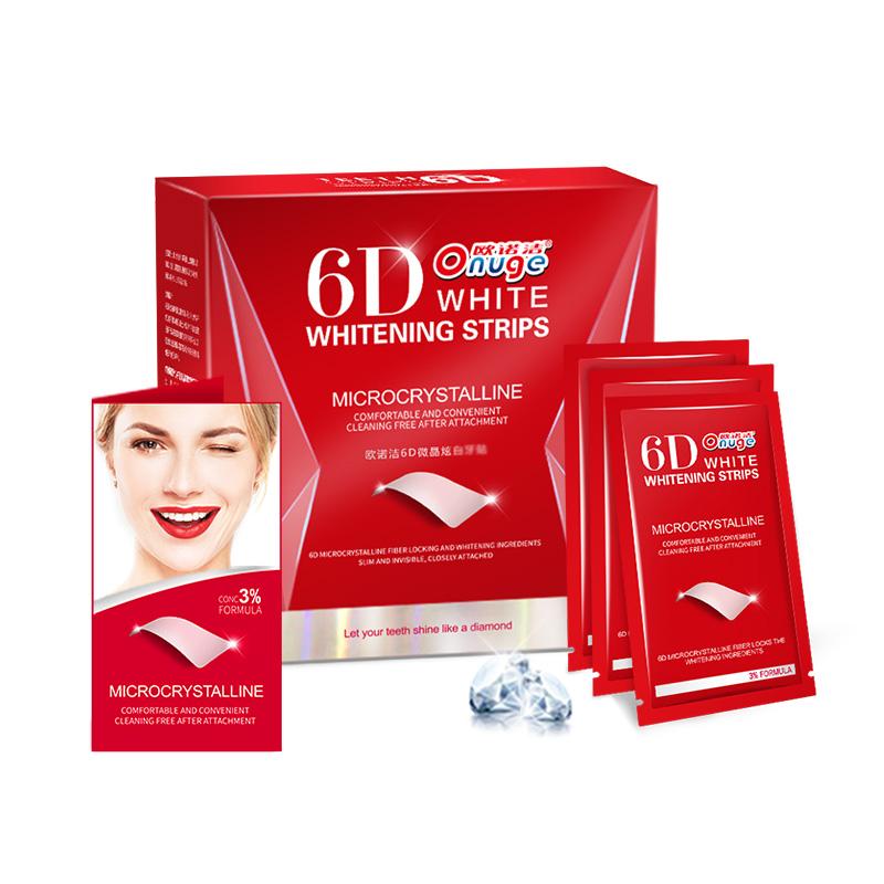 欧诺洁6D微晶炫白牙贴温和不酸牙14对28贴