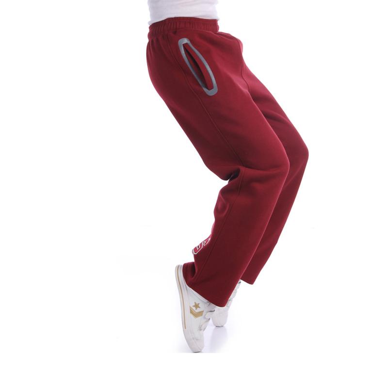 加肥运动裤男长裤直筒针织休闲裤秋冬加绒加厚宽松大码跑步篮球裤