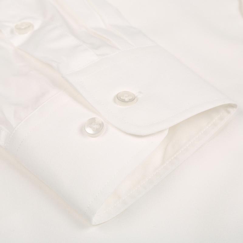 短袖衬褂包邮 步森衬衫职业男女商务正装衬衣乳白色工作服长 BUSEN