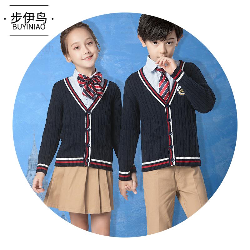 步伊鸟洋气舒适春装中小童校服小学生礼服时尚长袖套装儿童合唱服