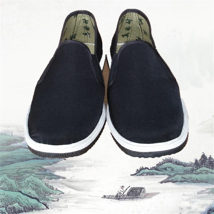 老北京男鞋司机加厚轮胎底男相巾劳保低帮布鞋耐磨防扎加厚轮胎底