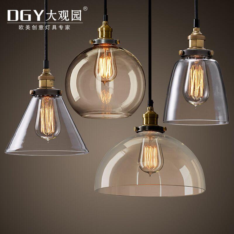 北欧loft复古创意小吊灯单头吧台餐厅灯简约现代过道个性玻璃灯具
