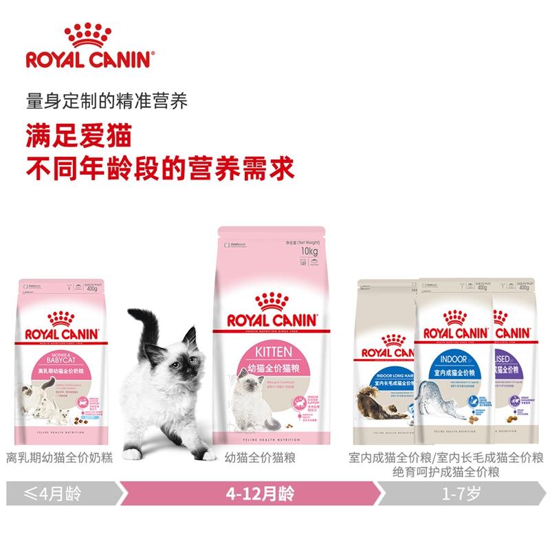 宠物猫粮皇家猫粮K36幼猫10kg营养增肥发腮猫奶糕美毛猫粮波奇网优惠券
