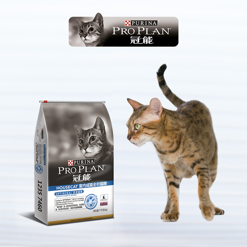 波奇网宠物猫粮冠能室内成猫全价猫粮7kg去毛球营养增肥成猫通用优惠券