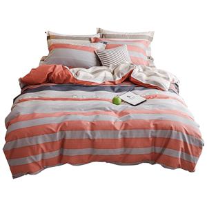远梦纯棉四件套简约全棉家纺三件套1.51.8m床被套床单学生1.2床品