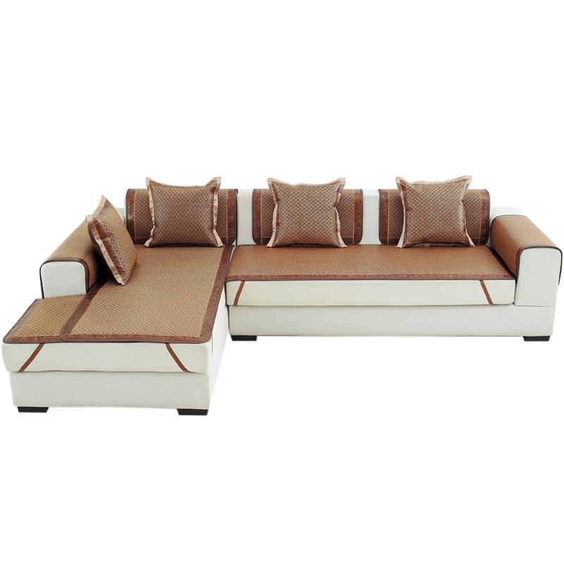 夏季凉席沙发垫夏天款凉垫冰丝藤席防滑坐垫布艺藤竹沙发套沙发巾