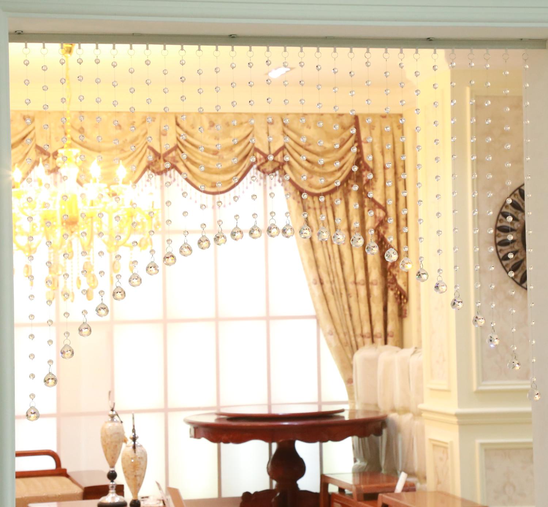 雅威32切面水晶珠帘 挂帘 帘子隔断 门帘 客厅玄关珠帘拱形帘