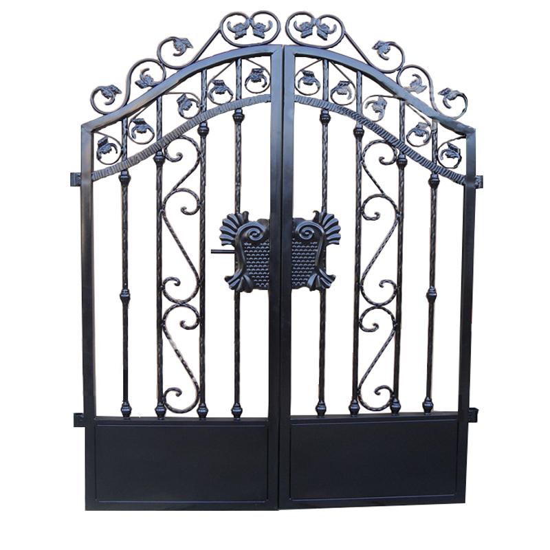欧式铁艺大门铁门庭院门别墅门花园门小区防盗门防锈对开镀锌小门