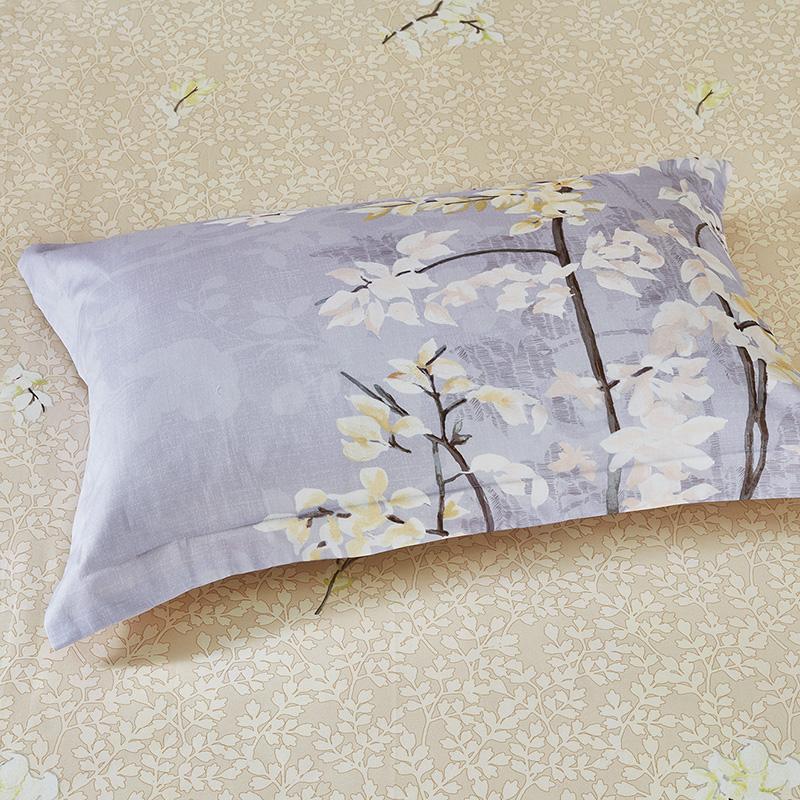 罗莱家纺全棉缎纹被套床单床上用品四件套件1.5/1.8米床秋冬新品