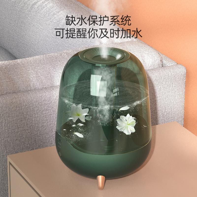 德尔玛加湿器家用静音空调房卧室孕妇婴儿空气小型香薰净化大雾量 - 图2