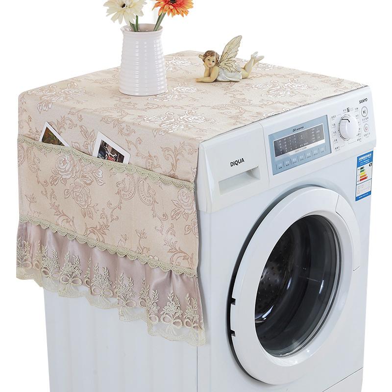 海尔美的LG三星小天鹅全自动滚筒上开盖洗衣机套布艺防晒防尘罩巾