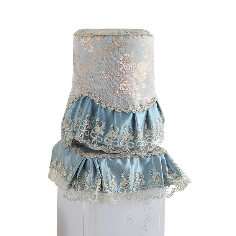 欧式布艺饮水机罩防尘罩田园桶装水罩水桶套立式矿泉水两件套罩子