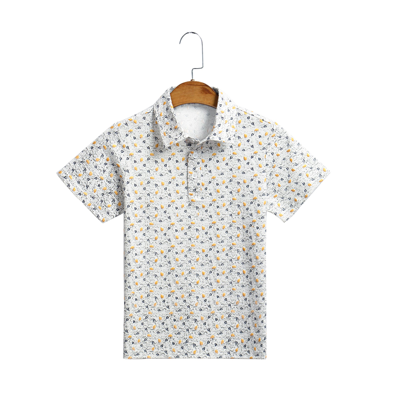 童装夏装男童短袖衬衫T恤儿童中大童纯棉体恤衫新款韩版潮休闲t恤