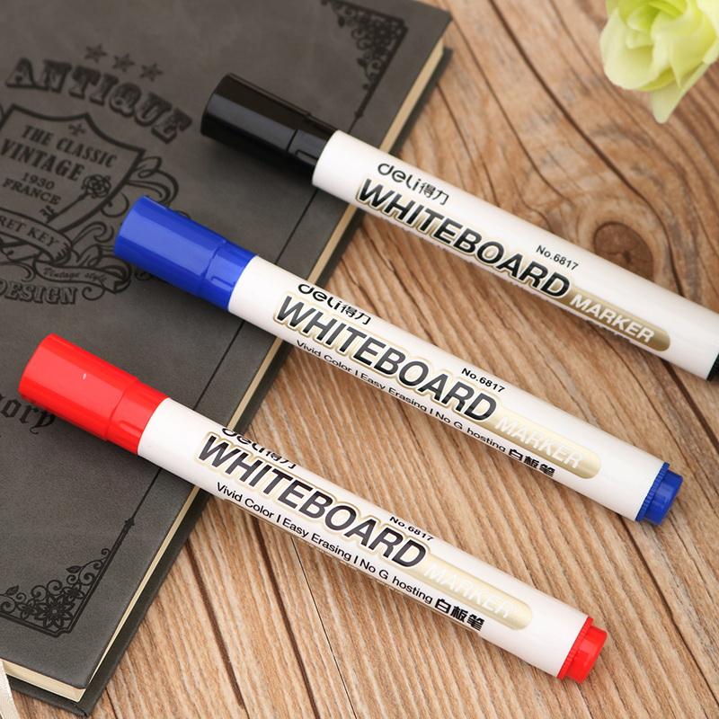 办公用品 得力文具6817白板笔 2MM笔头 白板书写用笔 得力办公