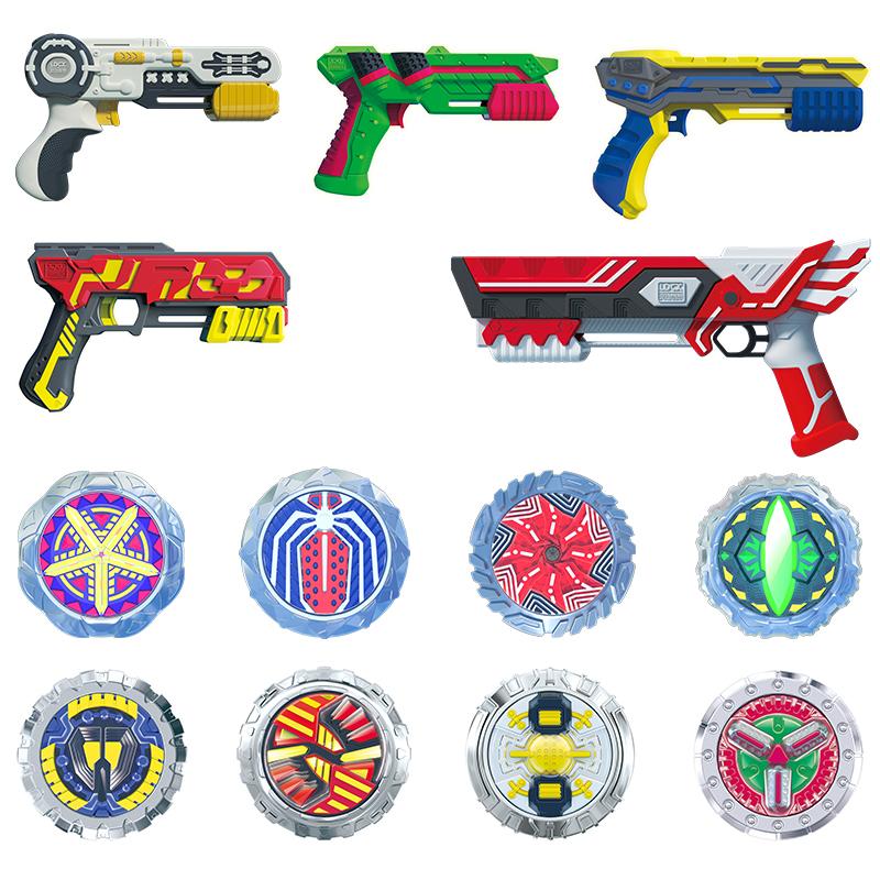 灵动魔幻陀螺新款5代4儿童枪玩具连发双核三核之聚能引擎男孩梦幻