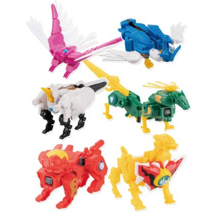 神兽金刚3超变星甲玩具4儿童男孩正版拼装五合一6合体变形机器人