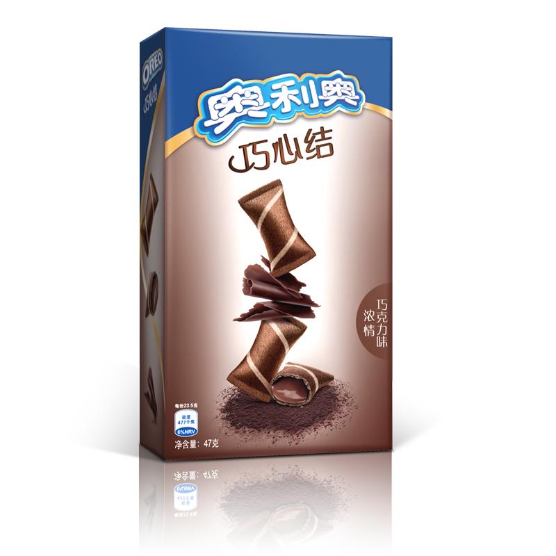 办公司零食 多口味可选 注心饼干巧克力棒 47g 亿滋奥利奥巧心结