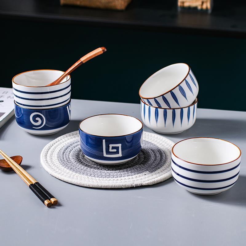 小碗创意个性日式一人食餐具网红碗单个家用饭碗陶瓷碗碟套装组合主图