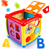 Shape matching toy building blocks of six-sided box infants and children half years old baby early childhood educational 1-2-3 years of age for men and women