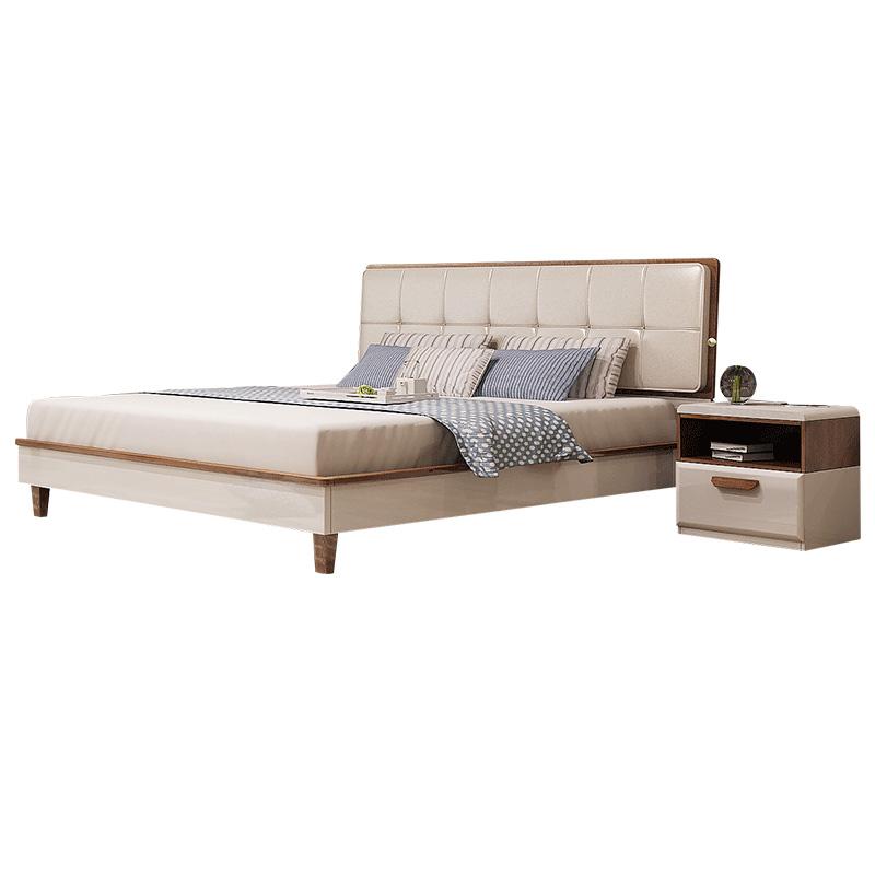 双虎家私 双人床1.5米高箱储物床主卧现代简约1.8m软包床15BM2