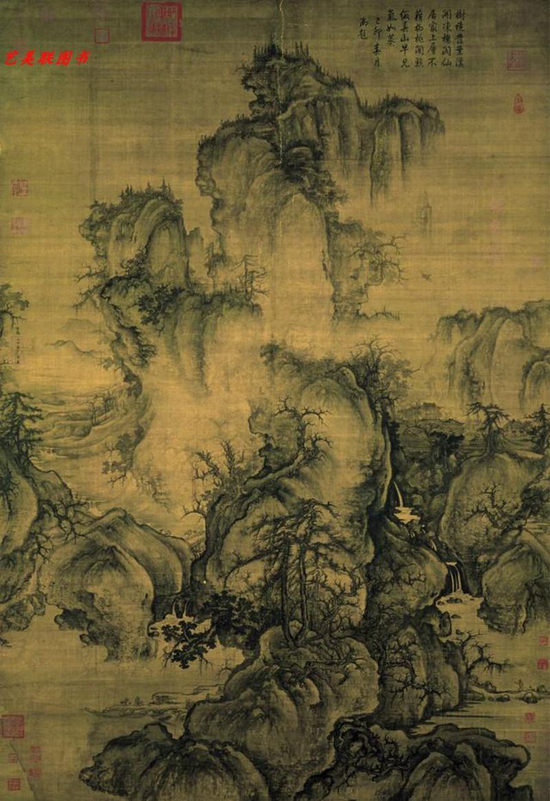 中国画教学大图临摹范本 北宋郭熙 早春图 各美院画室画院老师同学推荐临摹学习版本