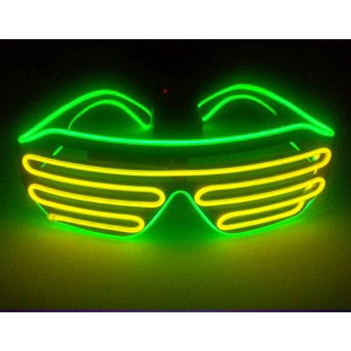 荧光舞LED蹦迪眼镜发光眼镜酒吧夜店演唱万圣节助威抖音神器道具