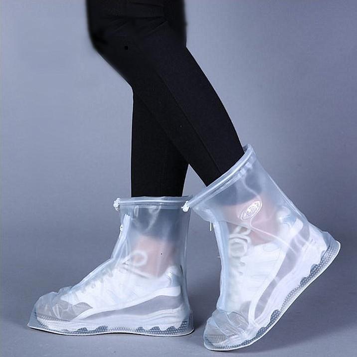 新款防水防滑男女pvc雨鞋套防雨耐磨加厚底雨靴套下雨天學生雨鞋